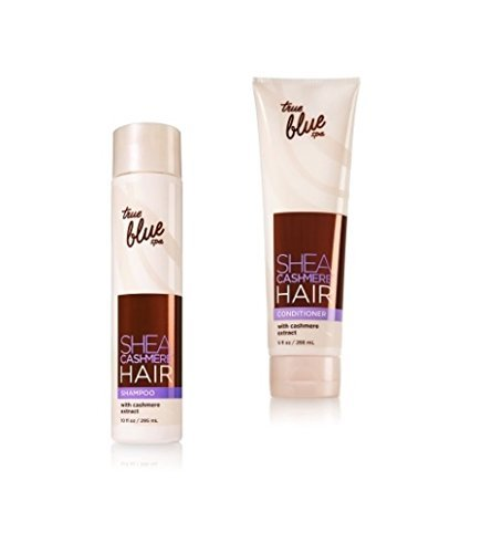 Bath & Body Works True Blue Spa Shea Cashmere Hair Set of Shampoo and (Spa Bath Body Hair Shampoo)