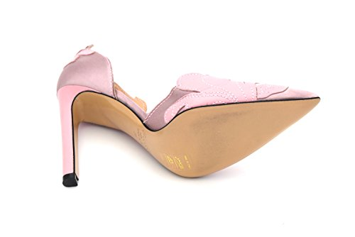 CODE DECOLTE ROSA PUMPS SATIN SHOES WOMAN BARIO HIGH 40 PINK LEATHER HEELS PINKO 1U202C Y2CM gFwIq8n