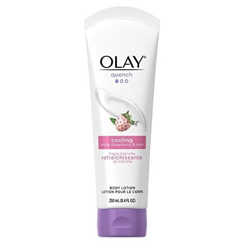 OLAY Quench Cooling White Strawberry & Mint Body Lotion 8.4 oz (Pack of 2)