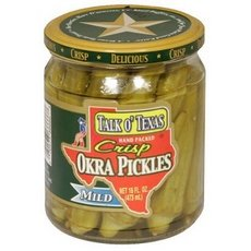 Talk O Texas Okra Pickled Mild, 16-ounce Jars (Pack of 6)