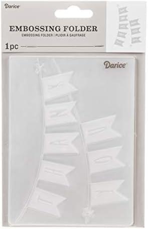 Darice Embossing Folder Pr/ägefolder 10.8 x 14.6 x 0.11 cm Plastik Transparent Blumenschalen Schablone