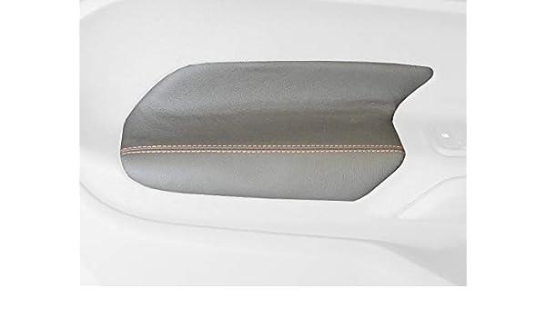 Amazon.com: RedlineGoods cubierta de apoyabrazos puerta delantera Compatible con Ford Fiesta 2011-19. Alcantara Negra Costura ROJA: Automotive