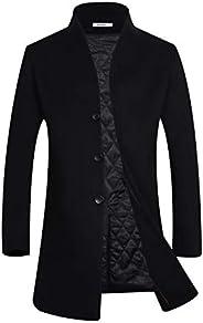 APTRO Men's Winter Wool Coat Slim Fit Trench Coat Long Business