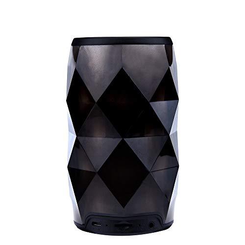 Diamond Black Croc Leather - AHAYAKU Portable Night Light Bluetooth Speaker Wireless Bluetooth Speaker Finger Control Black