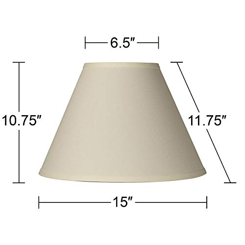 Antique White Linen Empire Lamp Shade 6.5x15x10.75 (Spider) - Brentwood