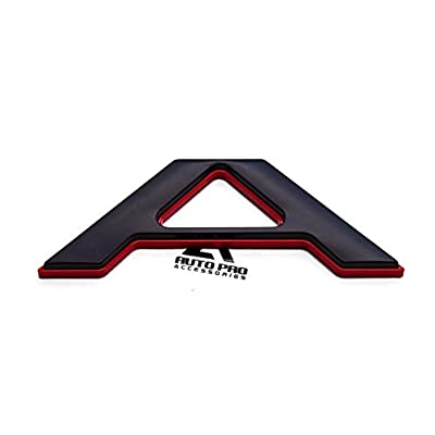 AUTO PRO ACCESSORIES Tailgate Insert Letters Fits 2020-2020 Ford Ranger, Not Decals Double Layer Emblems (Black with red Outline): Automotive