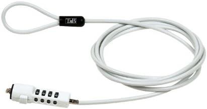 TnB MCAV3W - Candado de seguridad para ordenador portátil, blanco