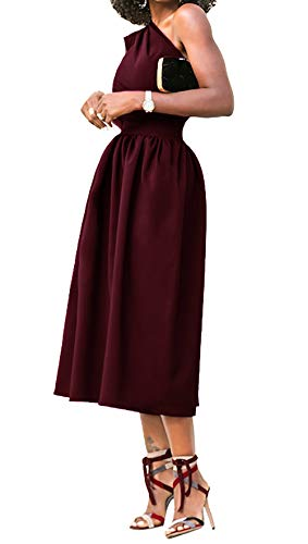 b9444eef2532 Angerella Casual Dresses for Women Club Prom Homecoming Cocktail Ladies  Evening Dress Wine Red,S