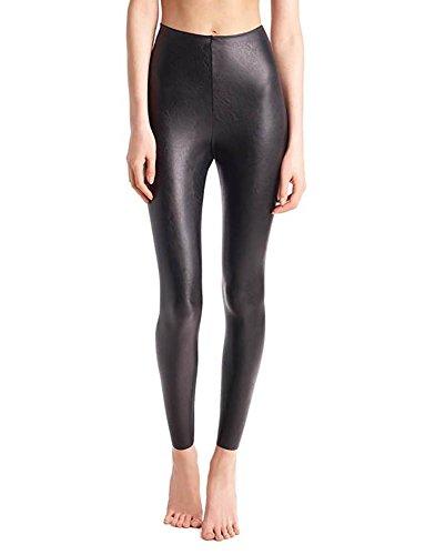 Womens Intimate Black Leather - commando Women's Perfect Control Faux Leather Leggings, Black, Small