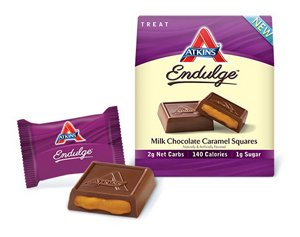 Endulge Milk Chocolate Caramel Squares 1 Box -