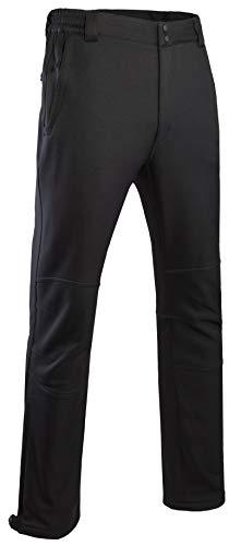 Men's Warm Softshell Fleece Lined Hiking Ski Pants Water Repellent Windproof