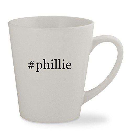 #phillie - 12oz Hashtag White Sturdy Ceramic Latte Cup Mug