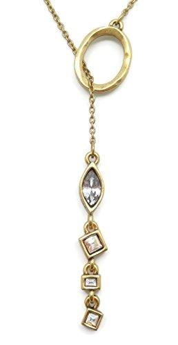 Patricia Locke Sugar Pink & White Mix Glacee Swarovski Crystal Reversible Goldtone Y Necklace ()