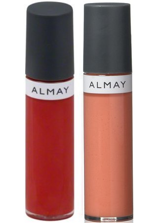 Almay Color and Care Apple a Day (300) and Cantaloupe Cream (700) Liquid Lip Balm and Lipstick Bundle, Non-sticky, No Gluten, Hypoallergenic, Dermatologist Tested, 0.24 fl. ()