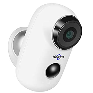 Hiseeu Home Security Camera,Wireless Rechargeable Battery Powered WiFi Camera,Night Vision, Indoor/Outdoor, 1080P Video with Motion Detection, 2-Way Audio, Waterproof, Cloud Storage