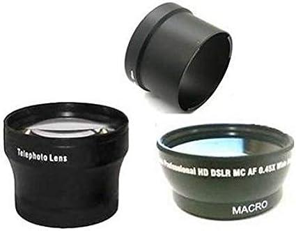 Wide Lens Tele Lens Tube Adapter Bundle for Canon Powershot G7 Canon G9