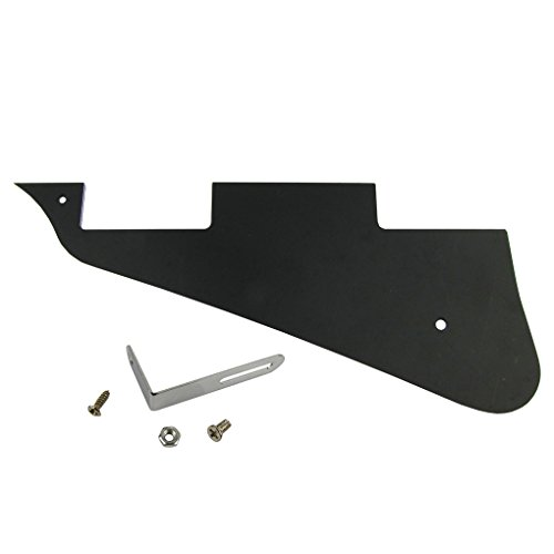 (IKN LP Style Pickguard 3Ply Black with Bracket with Screws LP Pickguard Set)