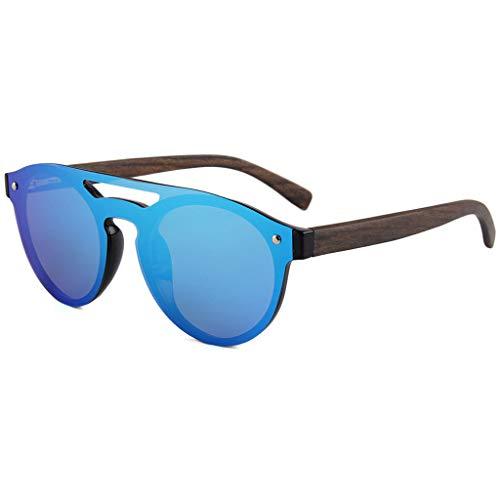 para Gafas polarizadas sol Unisex Correr de Gafas de Gafas UV400 Colores de Deportivas Azul Lentes bambú con Azul Ciclismo Color y bambú Protección A4OrSAn