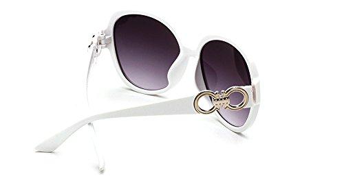de CHTIT gris de Miroir de TSGL317 Diamant chat Homme blanc soleil Style Papillon yeux Femme Lunettes wpvqR