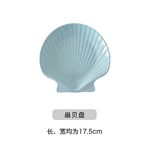 Porcelain Plate Set Fish Shell Conch Dish Starfish Saucer Bowl Crockery White Ceramic Dinnerware Blue Scallop