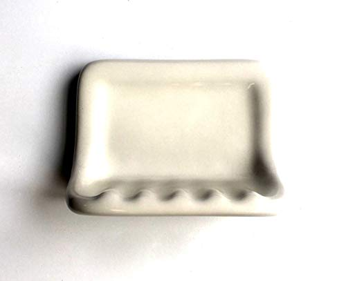 Squarefeet Depot Bath Accessory Shower Soap Dish Almond Ceramic Thinset Mount 6-1/2