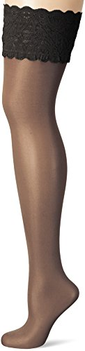 Wolford Satin Touch 20 Stay-Up - Mujer 20 Denier nearly black