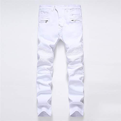 Bianca Da Uomo Caldi Blu 30 Attillati Jeans Dimensione colore Dritti Casual Pantaloni E Yzibei qwOItHW6Uw