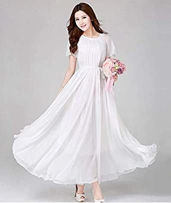d3f1d196f White Color Ladies Women's Fashion Evening Dress Wedding Clubwear Party  Dress Night Out & Cocktail