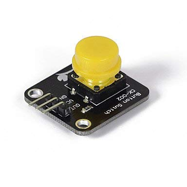 (Fannyonly Crab Kingdoms ck002 Keyboard Keys Module Compatible with Digital Electronic Components Development Board Material 5 Color and Guests (Yellow)