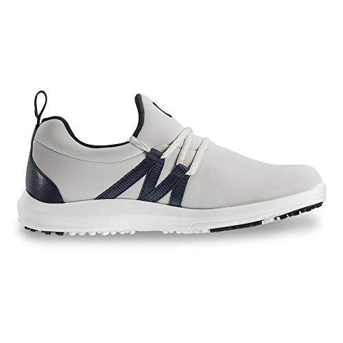 FootJoy Women's Leisure Slip-On Golf Shoes Beige 8.5 M, Sand/Navy, US (Best Golf Shoes 2019)