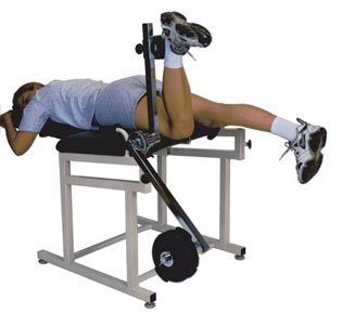 NK Exercise Table for the knee w/ One Torque Arm - Dove Gray Upholstery by NK Therapy Product