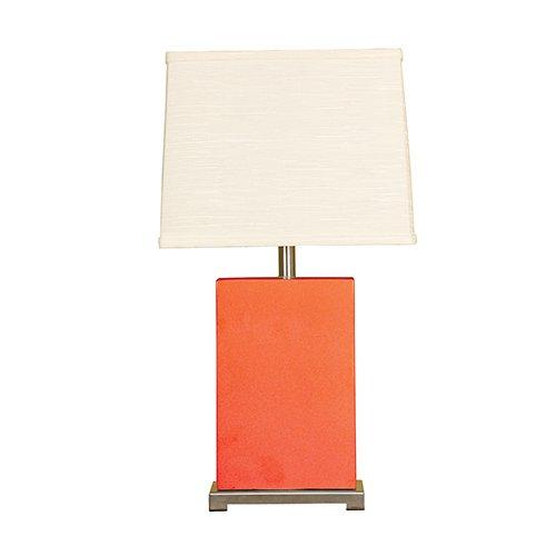 Mario Lamps 10T211CO Ceramic Block Table Light