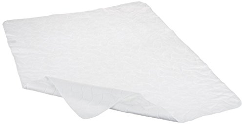 American Baby Company Waterproof Embossed Quilt-Like Multi-Use Flat Protective Mattress Pad cover, White (Multi Use Pad Waterproof)