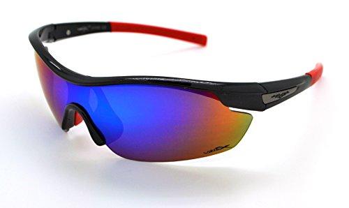 VertXmasculinepolarisésdes lunettes desoleilSportCyclismecourseextérieure.-Cadrenoir.Lentillebleu. KdQ0TKS