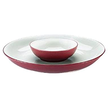 Noritake Colorwave Raspberry 13-3/4-Inch Chip and Dip