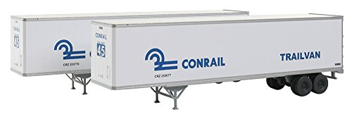 Walthers SceneMaster 45' Stoughton Trailer 2 Pack Conrail Assembled Collectable Train (Trailer Pack 2 Ho Scale)