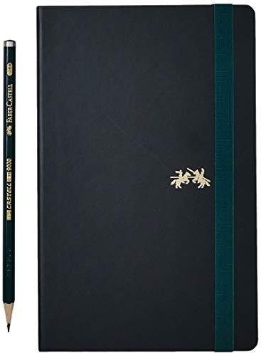 Caderno sem Pauta + EcoLápis, Faber-Castell, Sketchbook Castell 9000, CDNSKT/ME, 84 Folhas, Verde