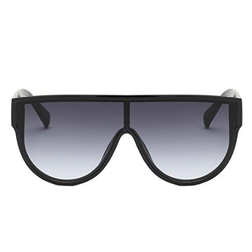 Unisex de Grande gris Gafas integradas Marco Sol Sol con Rojo Gafas Hunpta de UV 1xqt4zwOYz