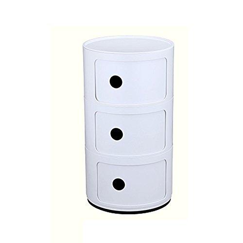 AiHerb.LT nightstand Plastic Lockers Bedroom Nightstand Round The Corner Cabinet Multifunctional Storage (Color : J)