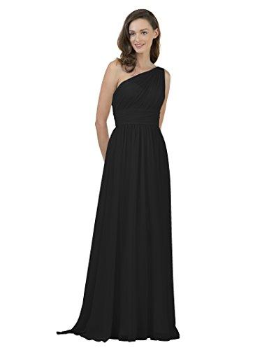 long black one shoulder dress - 5