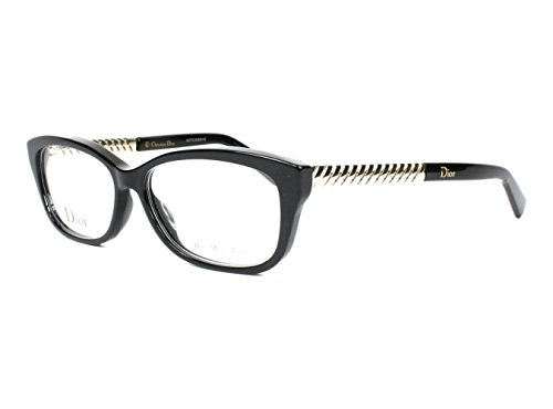Christian Dior Eyeglasses 3258 RHP Black / Light Gold 54 - Dior Prescription Glasses 2013