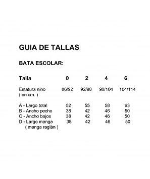 10XDIEZ Bata Escolar Unisex Marino - Medida Bata Infantil - 4 años (98-104 cm de Altura)