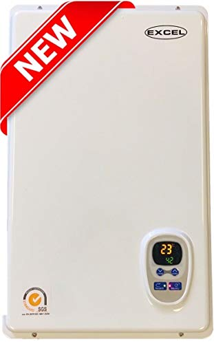 (Excel Pro Tankless Gas Water Heater NATURAL GAS 6.6 GPM Whole House and for Hydronic heating Compare to Rinnai, Rheem,Noritz, Bosch FREE FLUE KIT)
