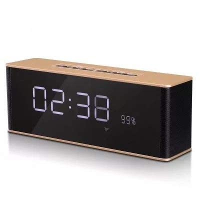 xingganglengyin Alarm Clock Bluetooth Speaker Wireless Card Stereo subwoofer with time Gift Creative Audio by xingganglengyin (Image #1)