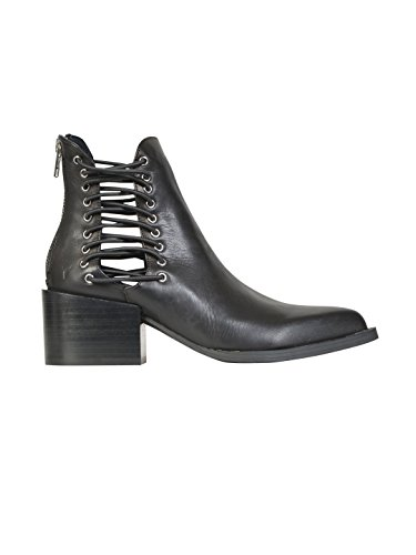 WINDSOR SMITH FEMME WSSEDMELEATHERBLACK NOIR CUIR BOTTINES