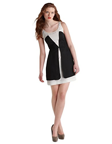 Z Spoke by Zac Posen Washed Faille Dress Black/Ivory