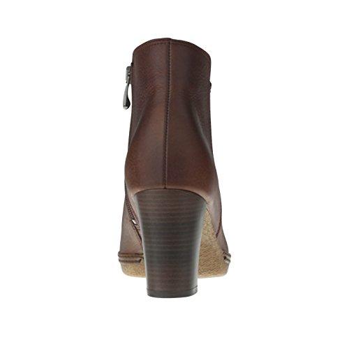 tessamino Damen Stiefelette | aus Echtleder | mit Lederfußbett | Warmfutter Braun
