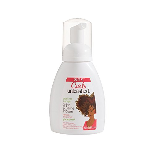 Organic Mousse - Organic Root Stimulator Curls Unleashed Let It Flow Shine and Define Mousse, Green tea & Mango, 8 Ounce