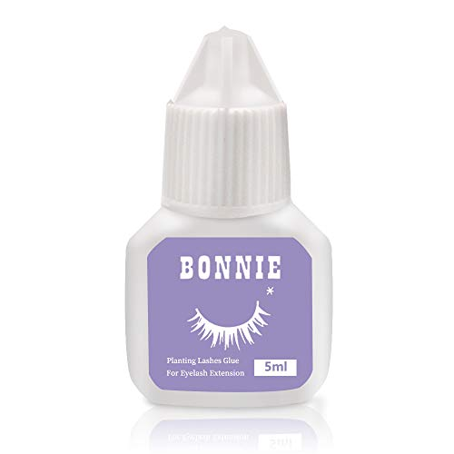 Eyelash Extension Glue for both Self and Professional Applications|Tasteless Non-Stimulating | 3-5 Sec Drying Time | Retention 20-25 Days | Sensitive Black Eyelash Glue by Bonnie, 5ml (The Best Individual Eyelash Glue)