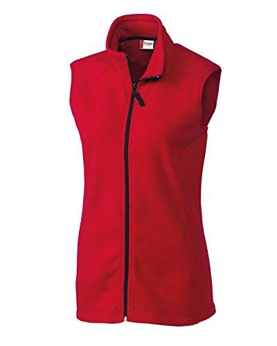 Ladies Vest Microfleece - Clique LQO00017 Women's Summit Lady Full Zip Microfleece Vest Red Medium